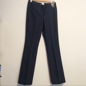 7th AVENUE NEW YORK & COMPANY Poka Dot Navy Pants